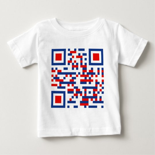QR-Code-United-States-of-Am Baby T-Shirt
