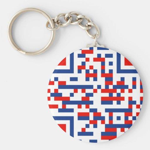 QR-Code-United-States-of-Am Key Chains