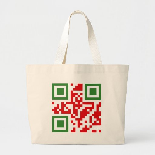 QR-Código-Algerie Bolsa Lienzo