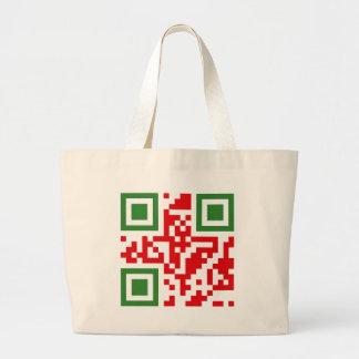 QR-Código-Algerie Bolsa Tela Grande