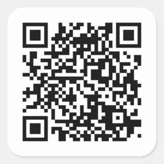 QR-código bordador, pegatina/ Pegatina Cuadrada