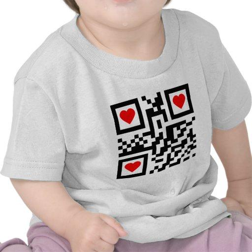 QR-Código-Yo-amor-usted Camiseta