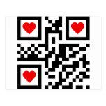 QR-Código-Yo-amor-usted Postal