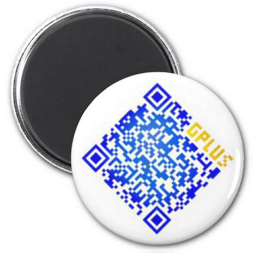 QR Design 2 Inch Round Magnet