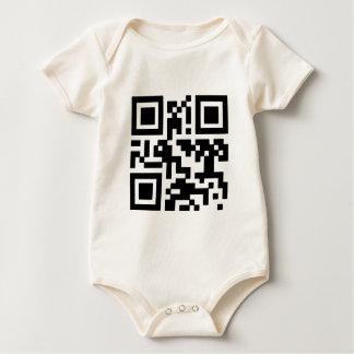 """QR """"Happy Sabbath!"""" code. Baby Bodysuit"""