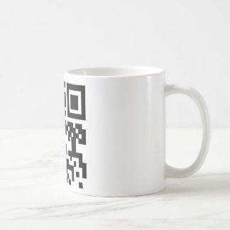 "QR ""Happy Sabbath!"" code. Coffee Mug"