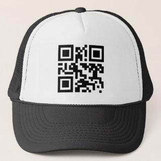 """QR """"Happy Sabbath!"""" code. Trucker Hat"""