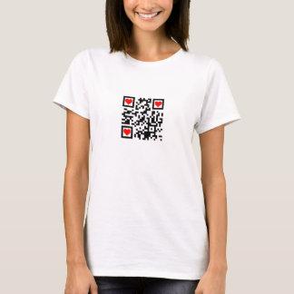 QR I Heart Geeks T-Shirt