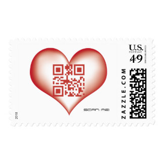 QR I Love you, SCAN ME! Postage