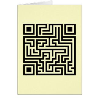 QR Maze Card