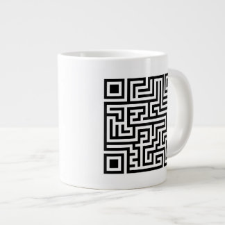 QR Maze Giant Coffee Mug