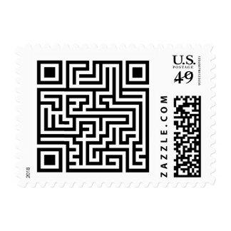 QR Maze Postage Stamp