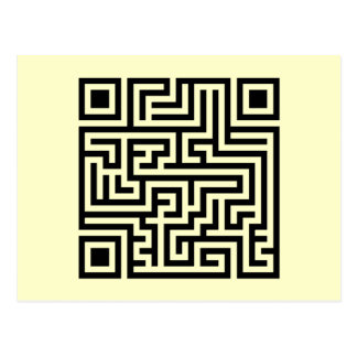 QR Maze Postcards