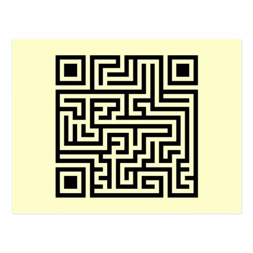 QR Maze Postcard