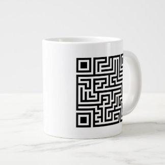 QR Maze 20 Oz Large Ceramic Coffee Mug