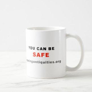 """""""QR me SAFE"""" black mug"""