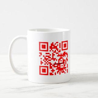 """""""QR me SAFE"""" red mug"""