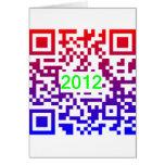 QR-NewYear2012 Greeting Card