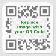 QR Scan Code - Promote Your Message Anywhere Square Sticker at Zazzle