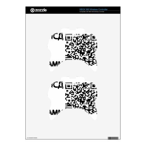 qr y texto cryllic mando xbox 360 skin