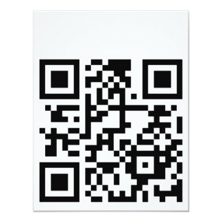 qrGeekinLove Invitación 10,8 X 13,9 Cm