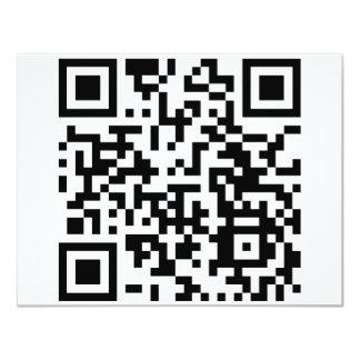 qrHowGeeksSay Invitación 10,8 X 13,9 Cm