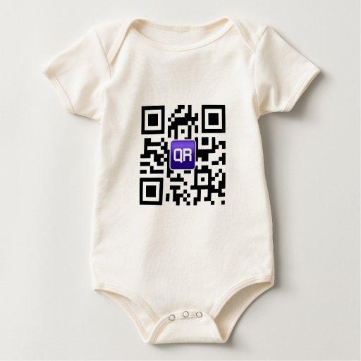 QRinator.com Custom QR coded accessories Baby Bodysuit