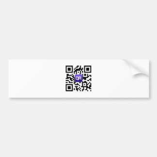 QRinator.com Custom QR coded accessories Bumper Sticker