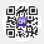 QRinator.com Custom QR coded accessories Classic Round Sticker