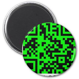 QrRage.com - generador de código de encargo de QR Imán Redondo 5 Cm