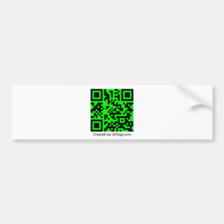 QrRage.com - generador de código de encargo de QR Pegatina Para Auto