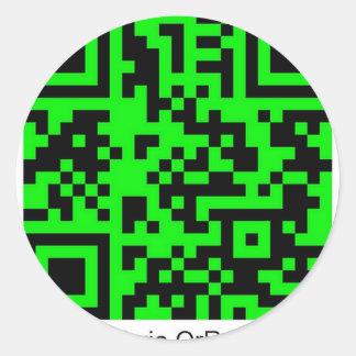 QrRage.com - generador de código de encargo de QR Pegatina Redonda