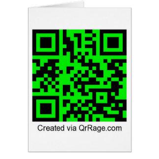 QrRage.com - generador de código de encargo de QR Tarjeta De Felicitación
