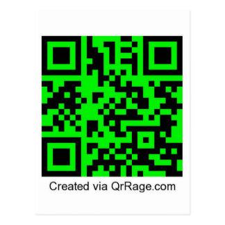 QrRage.com - su código del personalizado QR Tarjeta Postal