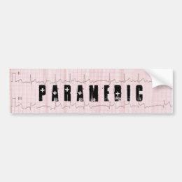 QRS EKG EMS PARAMEDIC BUMPER STICKER
