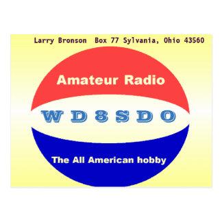 QSL - Amateur Radio, the All American Hobby Postcard