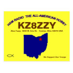 QSL Design Blue State Postcard at Zazzle