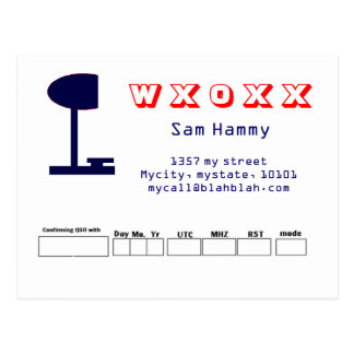 QSL design Post Cards