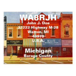 QSL Postcards HAM Radio Ops Quaint Small Town Strs