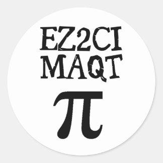 QT Pi  Cutie Pie Classic Round Sticker