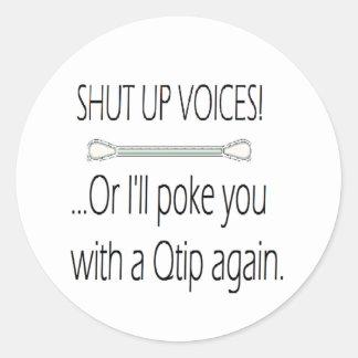 qtip classic round sticker