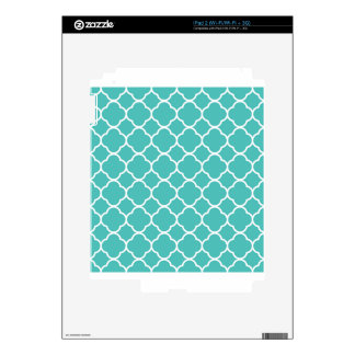 qua trefoil Sea green  Design Decals For The iPad 2
