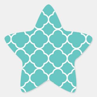 qua trefoil Sea green  Design Star Sticker