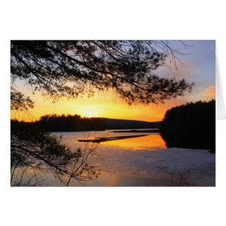 Quabbin Early Spring Sunset Card