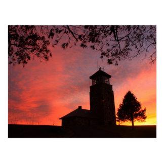 Quabbin Park Tower Sunset Postcard