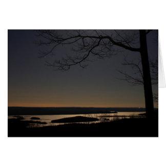 Quabbin Reservoir by Moonlight Greeting Card