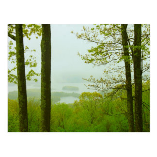 Quabbin Valley Spring Rain Postcard