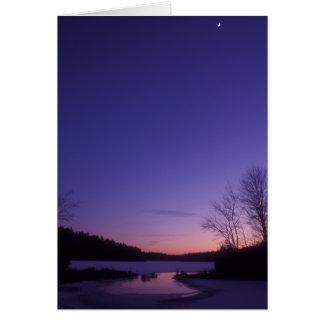 Quabbin Winter Moon Card