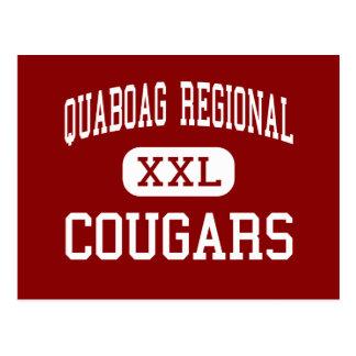Quaboag Regional - Cougars - High - Warren Post Card
