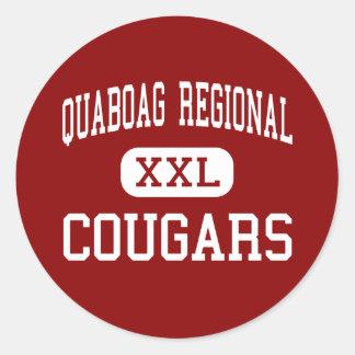 Quaboag Regional - Cougars - High - Warren Round Stickers